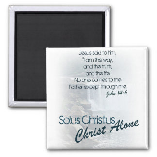 Solus Christus/ Christ Alone 2 Inch Square Magnet