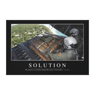 Solution: Inspirational Quote 1 Canvas Print