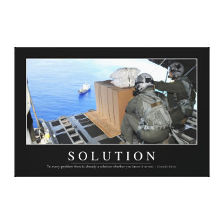 Solution: Inspirational Quote 2 Canvas Print