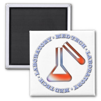 SOLUTION MED TECH - MEDICAL LABORATORY 2 INCH SQUARE MAGNET