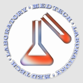 SOLUTION MED TECH - MEDICAL LABORATORY CLASSIC ROUND STICKER