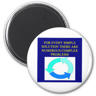 solutions and problems proverbs 2 inch round magnet