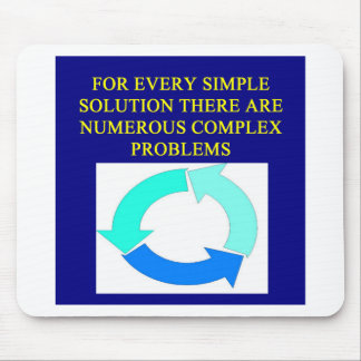solutions and problems proverbs mouse pad