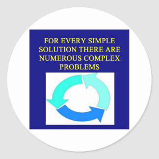 solutions and problems proverbs sticker
