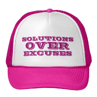 Solutions Over Excuses Customized Women's Pink Hat