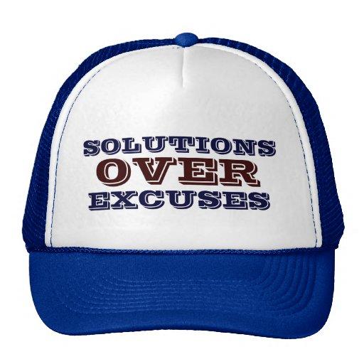 Solutions Over Excuses Men's - Women's Blue Hat.