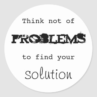 Solutions Classic Round Sticker
