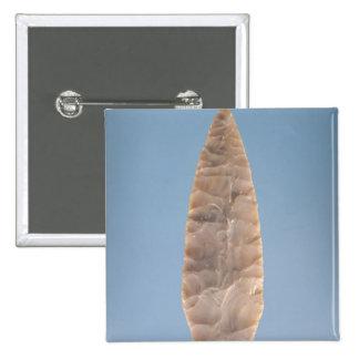Solutrean 'laurel leaf' blade, found at Volgu, 2 Inch Square Button