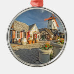Solvang Windmill View Christmas Ornament
