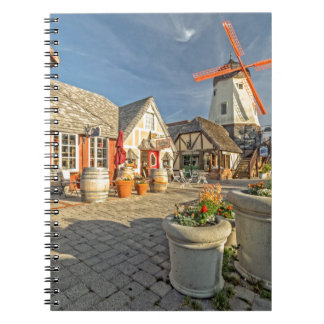 Solvang Windmill View Spiral Note Books