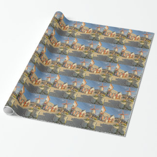 Solvang Windmill View Wrapping Paper