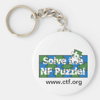 Solve The NF Puzzle Basic Round Button Keychain