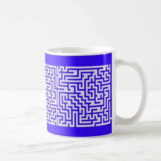solveable maze mug blue and gray civil war version