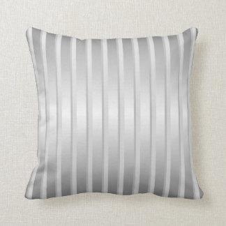 Solver gray stripe throw pillow