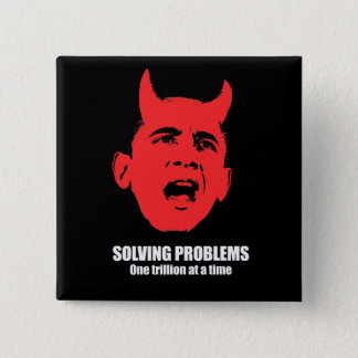 Solving problems, one trillion at a time pinback button