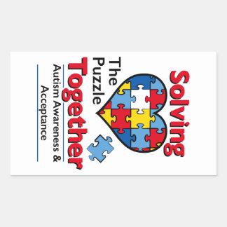 Solving the Puzzle - Autism Awareness Rectangular Sticker