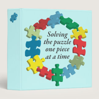 """Solving the Puzzle...Blue 1.5"""" Binder"""