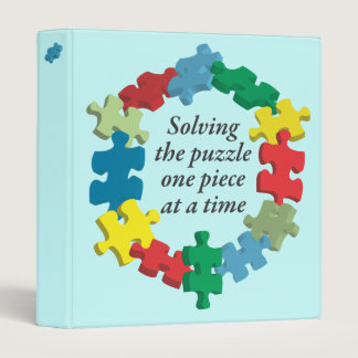 """Solving the Puzzle...Blue 1"""" Binder"""
