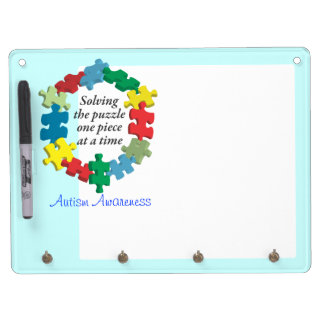 Solving the Puzzle...Blue Dry Erase Board