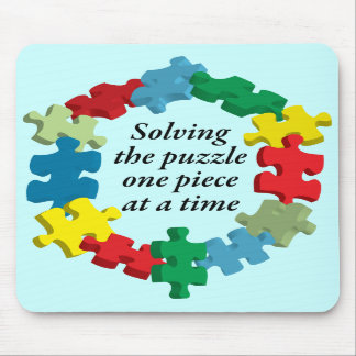 Solving the Puzzle... Blue Mousepad