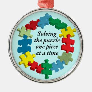 Solving the Puzzle...Blue Ornament
