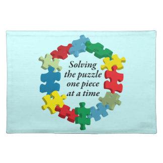 Solving the Puzzle...Blue Placemat