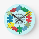 Solving the Puzzle...Blue Wall Clock