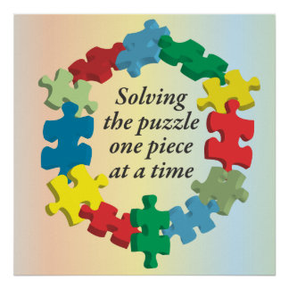 Solving the Puzzle...Poster Art Rainbow Poster
