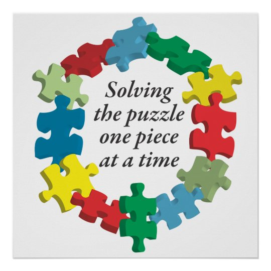 Solving the Puzzle...Poster Art White Poster