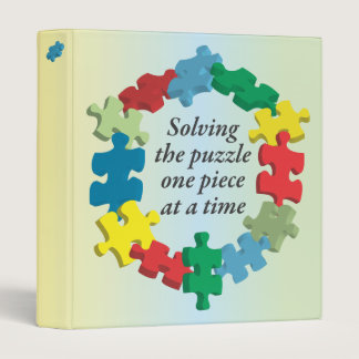 "Solving the Puzzle...Rainbow 1"" Binder"