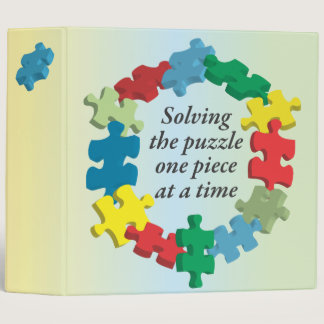 "Solving the Puzzle...Rainbow 2"" Binder"