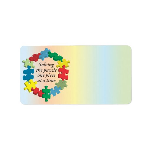 Solving the Puzzle...Rainbow Address Labels