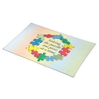 Solving the Puzzle...Rainbow Placemat