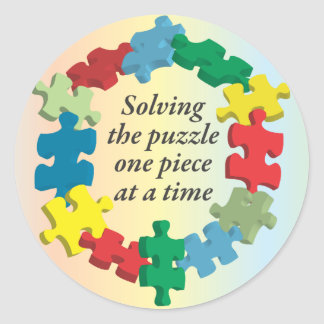 Solving the Puzzle...Rainbow Stickers