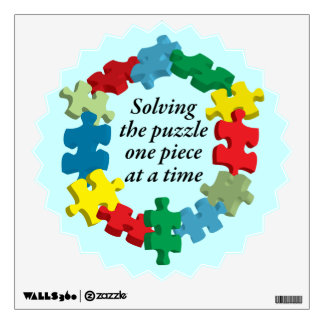 Solving the Puzzle...Wall Decal Light Blue