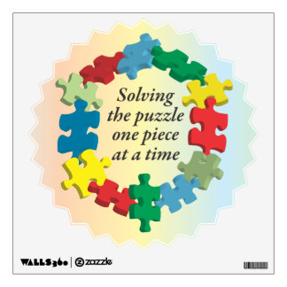 Solving the Puzzle...Wall Decal Rainbow