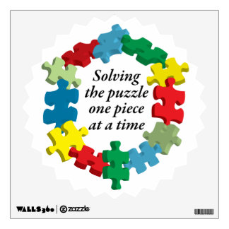 Solving the Puzzle...Wall Decal White