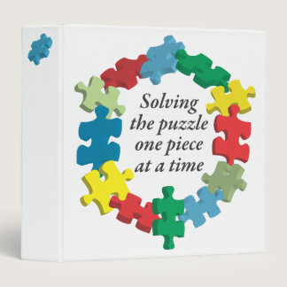 """Solving the Puzzle... White 1.5"""" Binder"""