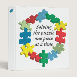 """Solving the Puzzle... White 1"""" Binder"""