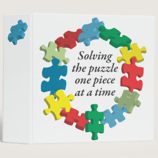 """Solving the Puzzle...White 2"""" Binder"""