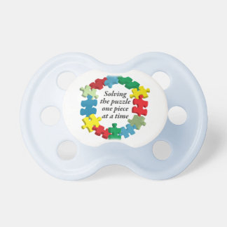 Solving the Puzzle...White Pacifier BooginHead Pacifier