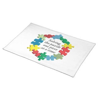 Solving the Puzzle...White Placemat