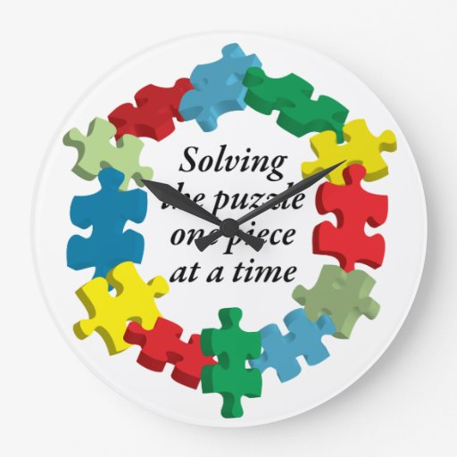 Solving the Puzzle...White Wall Clock