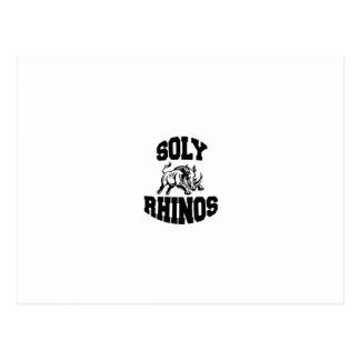 Soly Rhinos Postcard