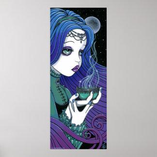"""Soma"" Celestial Moon Ritual Fae Poster"