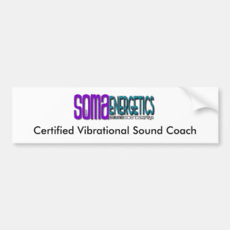 Somaenergetics Certified Sound Coach bumper sticke Bumper Sticker