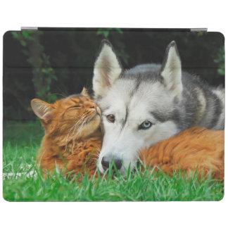 Somali Cat Siberian Husky Cute Friends Huddle Love iPad Smart Cover