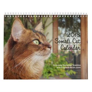 Somali Cat, Starring Summer Samba 2018 Calendar