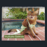 "Somali Cat, with Summer Samba Outtake Edition 2018 Calendar<br><div class=""desc"">Summer Samba—the internet's popular Somali cat,  therapy cat,  blogger,  and social media sensation—shows her crazy side with these hilarious outtakes! A new photo every month,  many of them from the same photo sessions as her regular 2018 calendar. This calendar will make you MOL (Meow Out Loud)!</div>"