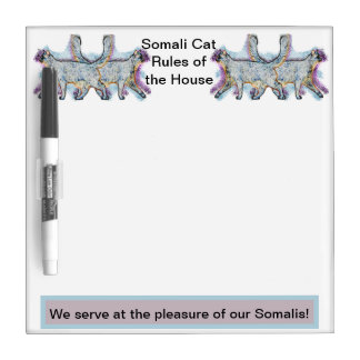 Somali Cats Dry Erase Board